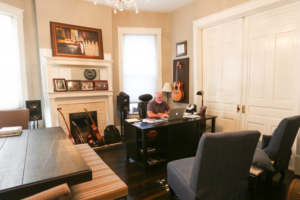 Dan Hodges, CEO of Dan Hodges Music, in his Nashville office